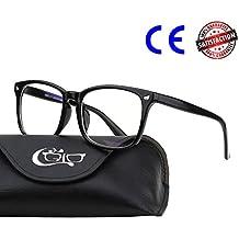 CGID CT82 Horn Oversized Blue Light Blocking Glasses