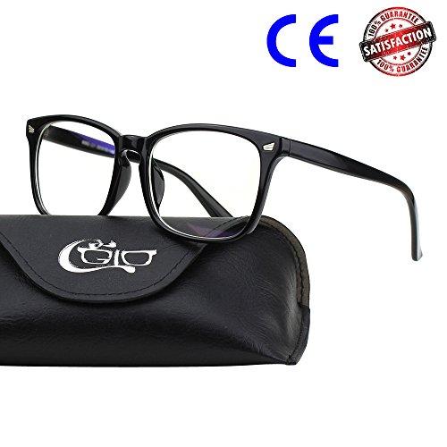 CGID BL82 Blaues Licht-blockierende Brille,Computer Transparente Gläser