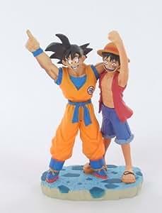 figurine NEO One piece X dragon ball Z San goku et luffy