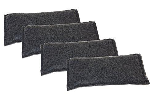 4 x Luftentfeuchtег Granulat Beutel im 4kg SET, wiederverwendbar, Umweltfreundlich Auto-Entfeuchter