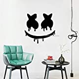 Hot Selling Dripping Fun Mask Pattern Vinyl Wall Decal For Living Room Home...