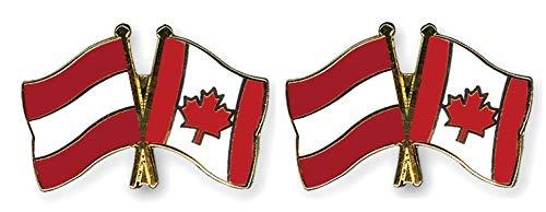 Österreich - Kanada Freundschaftspin 2er Pack