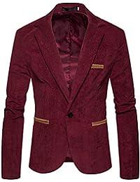 017809cc2443 Huihong Herren Elegante Anzug Herbst Winter Casual Cord Schlank Langarm  Mantel Jacke Blazer Tops