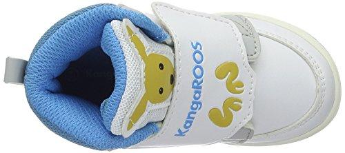 KangaROOS Babyroo Hi A, Chaussures Marche Mixte Bébé Mehrfarbig (White/blue)