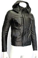 Men's Ghost Protocol Tom Cruise Mission Impossible Black Premium Italian Crinkled Napa Leather Jacket