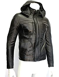 Men's Ghost Protocol Tom Cruise Mission Impossible Black Premium Italian Crinkled Napa Leather Jacket