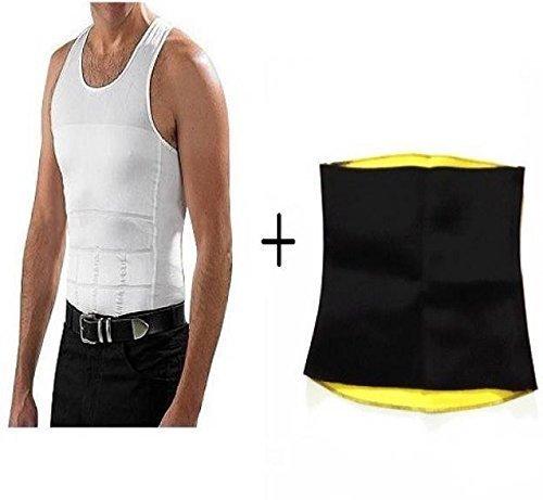 Slimming-Vest-men-shirt-with-Hot-Shapers-Belt-Seamless-Tummy-Tucker-combo-offer