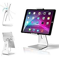 AboveTEK - Soporte elegante de aluminio para iPad Pro, soporte giratorio para iPad Air/Mini, para quioscos interactivos, para tableta interactiva IOS/Android para vidrieras de negocios / escritorio de oficina/encimera de cocina, para tabletas y lectores de libros electrónicos de 7 a 13 pulgadas