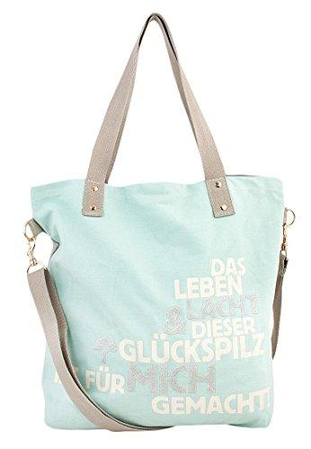 a42ae37499bbb Glückspilz® mit Spruch Einkaufstasche Eisblau -kubacki-goetz.de
