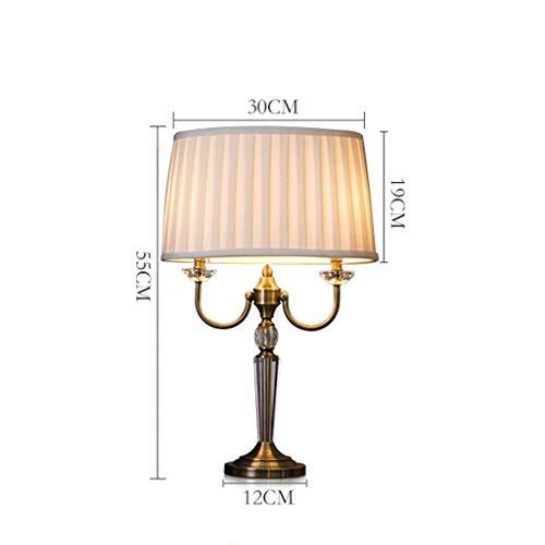 personnalité simple Chambre Lampe de chevet Creative Crystal Fashion européenne chaud nordique américain LED Lampe de chevet