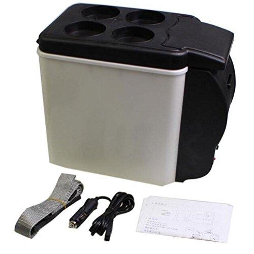 6L 12V Tragbare Auto Kühler / Wärmer Elektrische Kühlschrank Reise Auto Kleine Automotive Appliances Wärmer Black