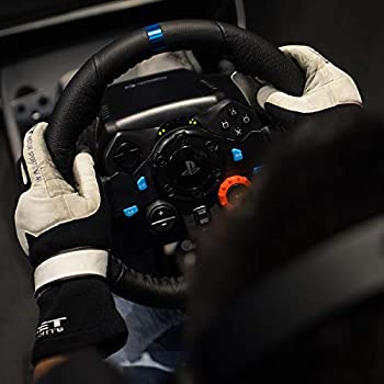 Logitech G29 Driving Force Volante da Corsa con Pedali Regolabili, Ritorno di Forza Reale, Comandi Cambio in Acciaio Inossidabile, Volante in Pelle, Spina EU, PS4 S3 C/Mac, Nero