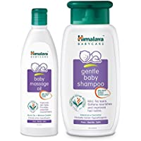 Himalaya Gentle Baby Shampoo, 400ml with Baby Massage Oil, 200ml