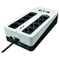 Eaton 3S UPS 850VA - 3S850D - Sistema de alimentación ininterrumpida SAI - 8 Salidas Tipo DIN - Off-Line - Negro y Blanco