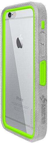 Amzer Crusta edge2edge Rugged Shell Case Cover mit Tempered Glas und Holster für iPhone 6schwarz/Space Grey _ P Grau /Grün