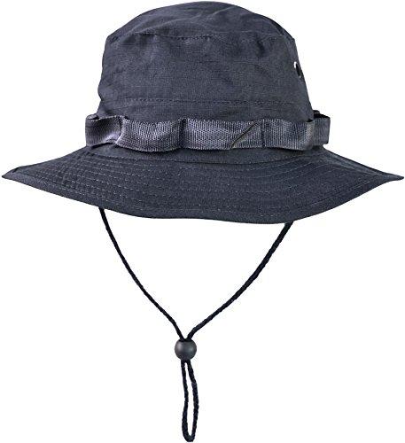 normani Australian Outdoor Hut Boonie Hat in vielen Farben und Grössen Farbe Marine Größe XL Marines Military Hat