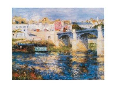 Pierre Auguste Renoir Brücke (Germanposters Pierre-Auguste Renoir Brücke in Chatou Poster Kunstdruck Bild 23,5x30cm)