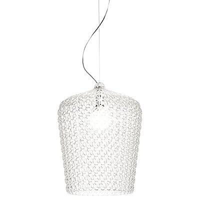 Kartell 09175B4 Lampada Kabuki, led, plastica;tecnopolymère thermoplastique, trasparente