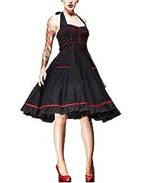 Rockabilly - Vestido Vanity Años 50 - Negro y Rojo