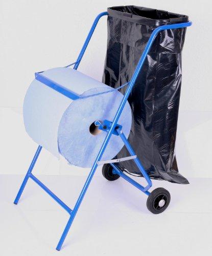 Papierrollenhalter Bodenständer inkl. Müllsackhalter, 100 x 50 x 70 cm, blau