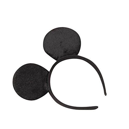se Minnie-Maus Ohren mit Schleife - Kostüm für Erwachsene & Kinder in 4 verschiedenen Farben - perfekt für Fasching, Karneval & Cosplay - Haarreif Schwarz (Mickey Mouse Und Minnie Mouse Halloween Kostüme)