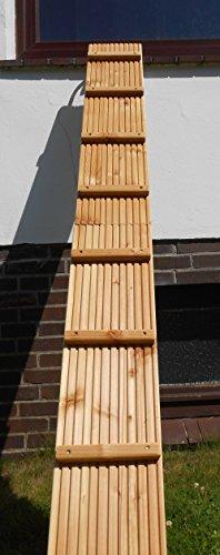 Jennys Tiershop 2 Meter! Katzenleiter/Katzentreppe mit Einem Verbindungsstück für Balkon, Mit Klemmhalterung. Extra 21 cm Breit! Douglasie (e)