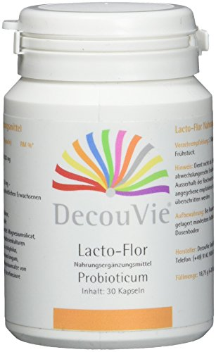 DecouVie Probiotika Kapseln hochdosiert I 22,5 Mrd KbE I Probiotikum in Apothekenqualität I Lactobacillus I Bifido-Bakterien I Milchsäurebakterien I FOS – Präbiotikum