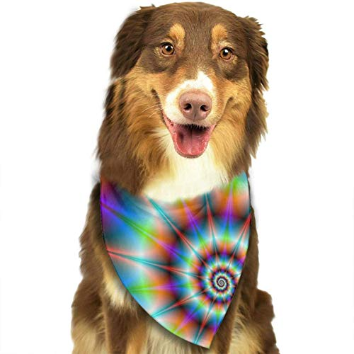 Erstellen Eigene Kostüm Ihre Sie Katze - nxnx Pet Dog Bandana Scarf Pack Triangle Bibs Spiral Psychedelic Tie Dye Rainbow Printing Kerchief Set Accessories for Small to Large Dogs Cats Pets