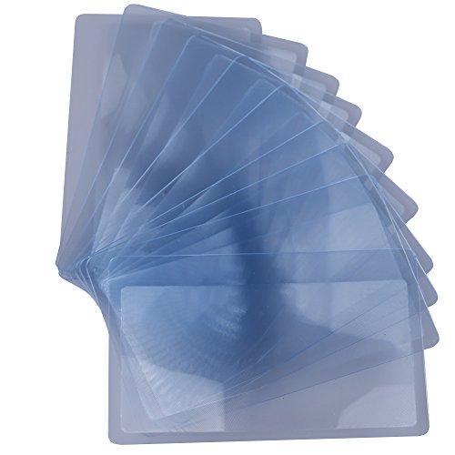 10x Taschenlupe/Kartenlupe/ Leselupe mit Kreditkartenformat, 3 fache Vergrößerung (8.50x 5.50x...