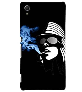 Fuson Smoking Girl Back Case Cover for SONY XPERIA Z4 - D4017