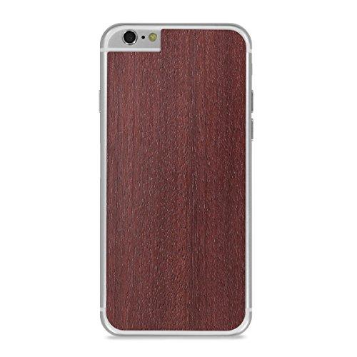 Cover-Up #WoodBack Peau de Bois Naturel pour iPhone 6 / 6s - Frêne Noir Purpleheart