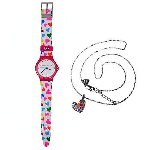 Set Agatha Ruiz de la Prada Uhr Agr240 Rosa Choker Silber-Herz Moles Act 925m - Modell: Agr240