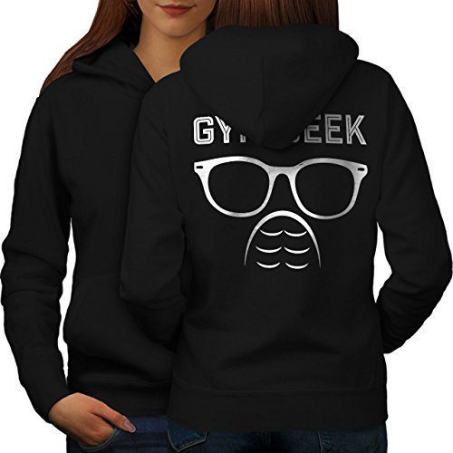 Geek Gym Aptitude sport Femme S-2XL Sweat à capuche le dos | Wellcoda Noir