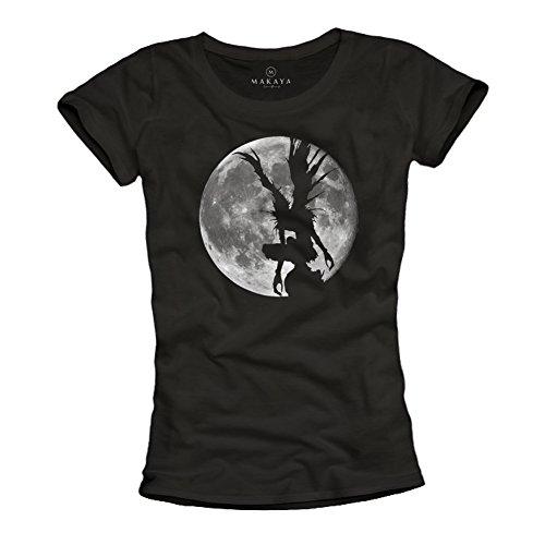 Death Note T-Shirt Damen - Shinigami schwarz L (Death Note-ring)