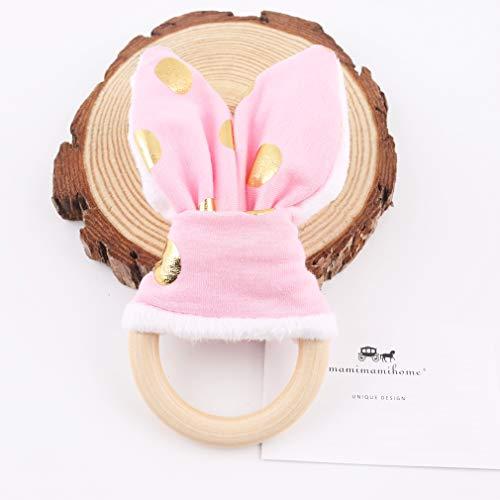 Mamimami Home Baby Beißring Spielzeug Häschen Ohr Zahnen Ökologisches Hölzernes Ring Geschenk Satz Organisches Hölzernes Zahnen Ring Organischer Hölzerner Zahnen Ring