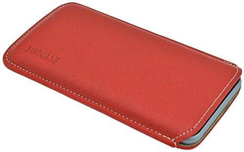"""Suncase étui pour iPhone 6 (4,7 """") en cuir ultra slim *top couleurs - 20 vollnarbig-rot"""