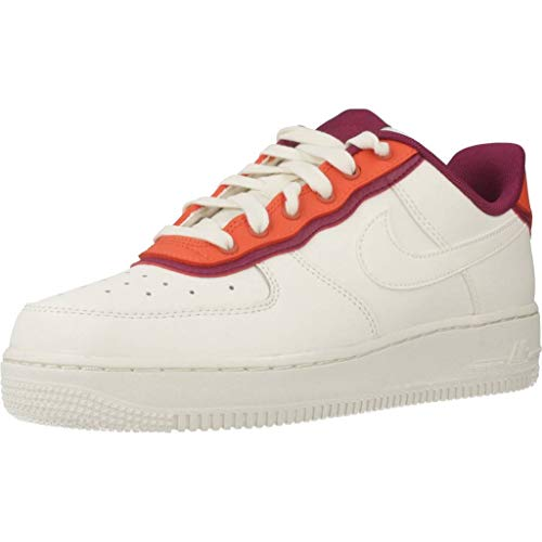 Nike Damen WMNS Air Force 1 '07 Se Basketballschuhe, Mehrfarbig Sail/Team Orange/True Berry 000, 38 EU - Team Orange Schuhe