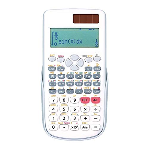 Calculatrice école Fournitures de Bureau Calculatrice Sciences de l'ingénieur Calculatrice Calcul Calculatrice Complexe 3 Couleurs en Option (Color : White)