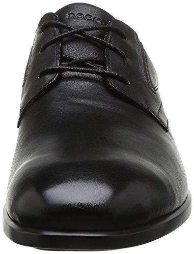 Rockport Total Motion Plaintoe, Chaussures de ville homme Noir (Black)