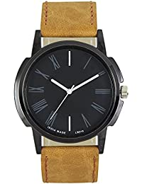 Shivam Fancy Round Dial And Bracelet Leather Straps Analog Watch For Men's & Boy's
