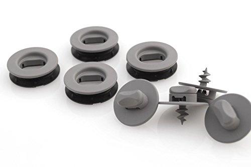 kh Teile Drehknebel oval/grau Fußmatten Befestigung + Halter 12-teilig