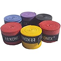 Konex Multipurpose Badminton/Tennis/Squash Racket Super Tacky Touch Grip (Pack of 3)