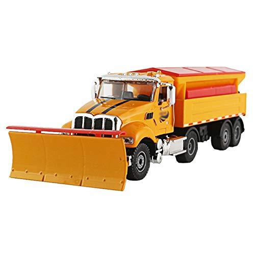 Wpj Alloy Technik Fahrzeugmodell Simulation Schneeschaufel LKW Schneeräumung Fahrzeug Schneeräumung Fahrzeug Bulldozer Kinderspielzeug (Color : A, Size : 22 * 7.2 * 5.4cm)