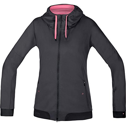 GORE BIKE WEAR Damen Warme Soft Shell Mountainbike-Kapuzenjacke, GORE WINDSTOPPER, POWER-TRAIL LADY WS SO Hoody, Größe: 40, Braun/Schwarz, SWHFLO (Womens Cycle Jacken)