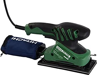 hitachi belt sander. hitachi fsv10sa 92 mm 180-watt orbital sander (green) belt