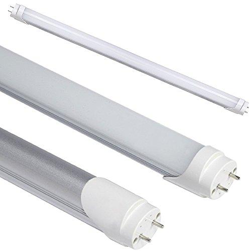 Kit 10tubos neón LED SMD de 150cm mate con casquillo T8de 21W = 200W Neon tradicional, luz blanco frío 6000–6500K 1900lúmenes alta luminosidad, duración de hasta 50.000horas funcionamiento a 220V sin necesidad de iniciación y Reactor Futur Prin