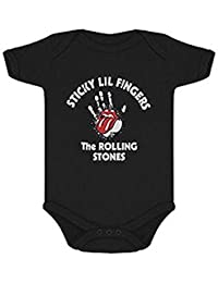 The Rolling Stones Blau Sticky Lil Fingers Offiziell Strampler
