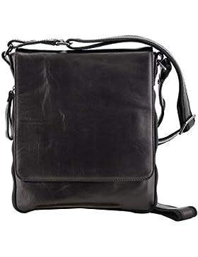 Echtes Leder Herrentasche Farbe Schwarz - Italienische Lederwaren - Herrentasche