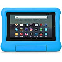 Kid-Proof Case for Fire 7 Tablet   Compatible with 9th-Generation Tablet (2019 release), Blue
