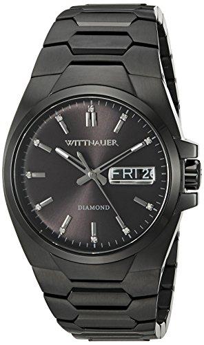 Wittnauer WN3046 Men's Brody Black Dial Black IP Steel Diamond Watch